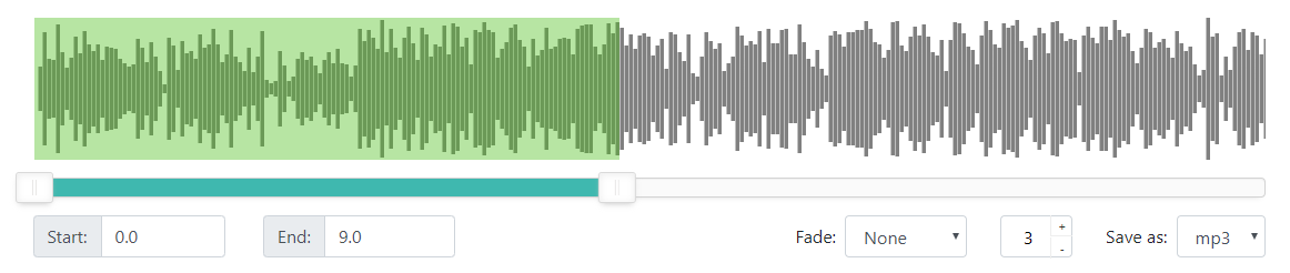 Waveform of the song