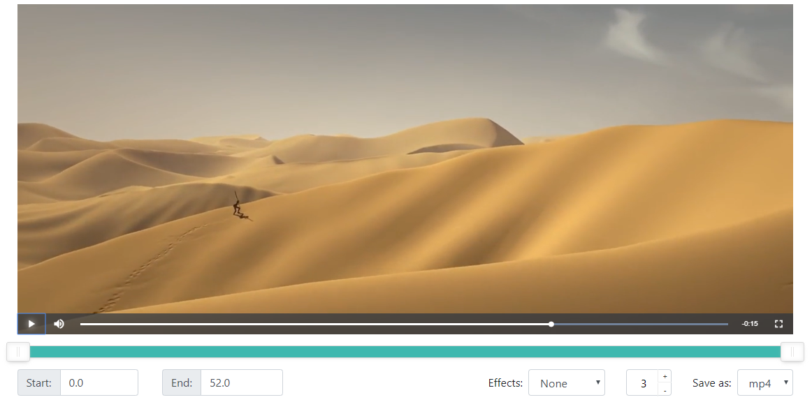 Preview of the video player
